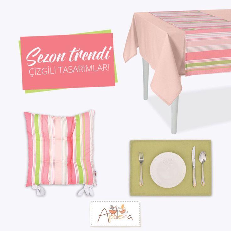 Sezonun moda trendleri arasında yer alan çizgili tasarımlar ev tekstilinde de kendini gösteriyor. Soft renklerle buluşan çizgiler evinize farklı bir tarz katıyor.  Hemen Keşfedin; �� shop.apolena.com #apolenahome #apolena #apolenababy #evtekstili #fonperde #kırlent #yastık #masaörtüsü #evdekorasyonu #dekorasyon #dekorasyonönerisi #mobilya #evimgüzelevim #home #insthome #onlineshopping #pillow #pillowcover #furniture #decoretion #babytextile #summer #loveyourhome #ilovehome #evimiseviyorum…