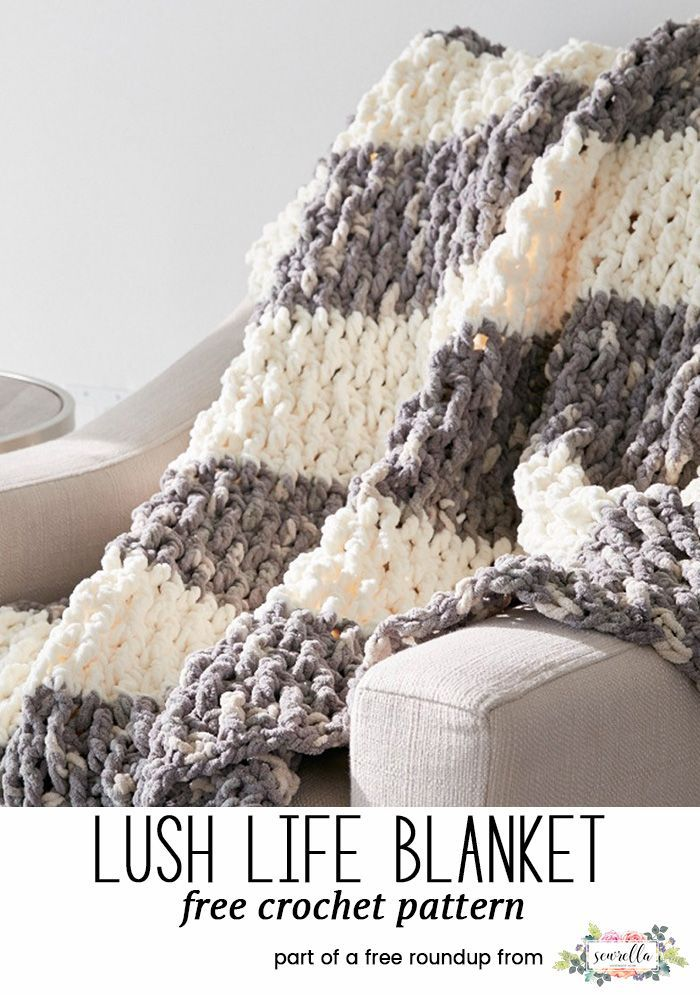 Crochet this easy hygge lush life squishy afghan blanket throw with fringe from my 12 coziest crochet afghans free pattern roundup!