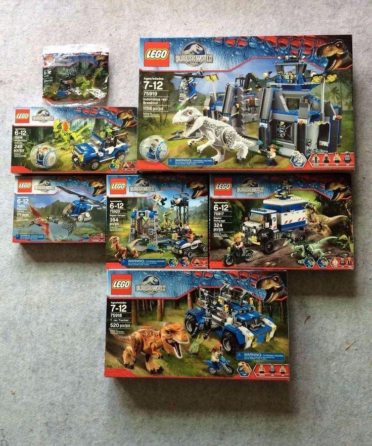 LEGO Jurassic World Complete Lot 75915 75916 75917 75918 75919 75920 30320 T-Rex #LEGO