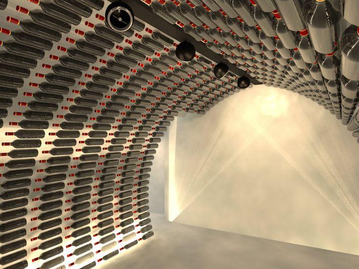 Amazing Sol Cave A Vin #10: Delire De Bouteille Du Sol Au Plafond