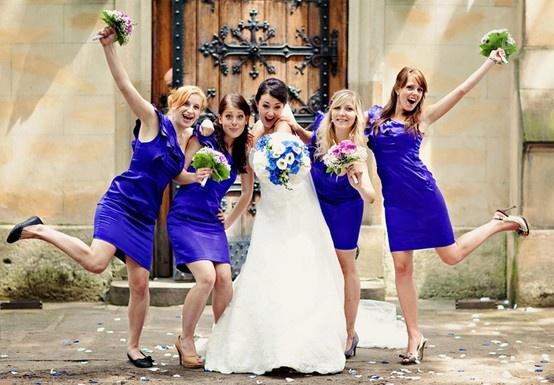 šaty pro družičky mohou dokonale sladit celou svatbu