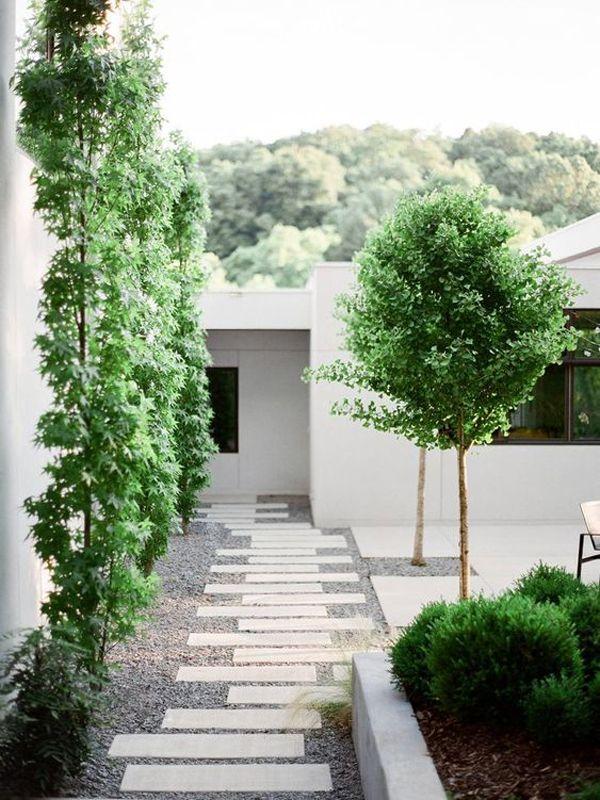 35 Modern Landscape Design Ideas For Minimalist Courtyard Garden Modern Landscaping Landscape Design Minimalist Garden