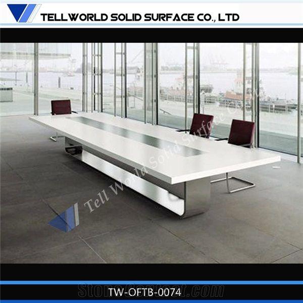 hot sale white conference tablemodern design white conference boardroom