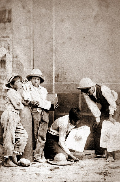 Mexican children playing (1860s)  CDV made by the mexican studio Cruces y Campa in the 1860s. (Ninos vendedores)