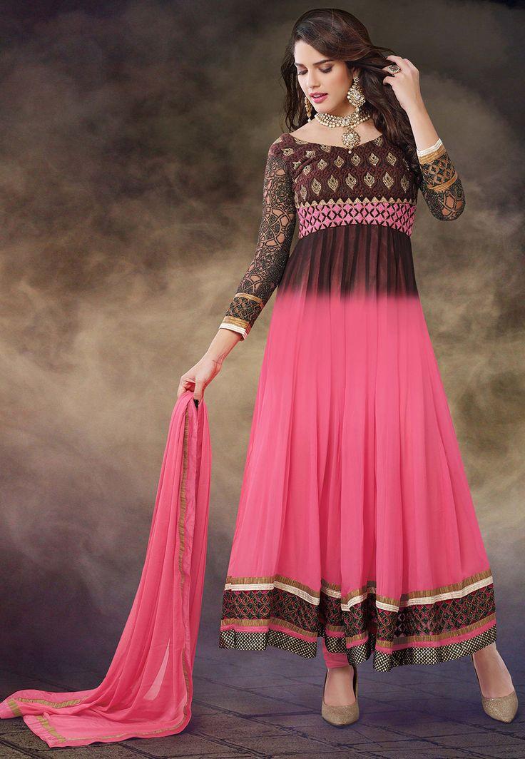 #Brown and #Pink Style #ChuridarKameez