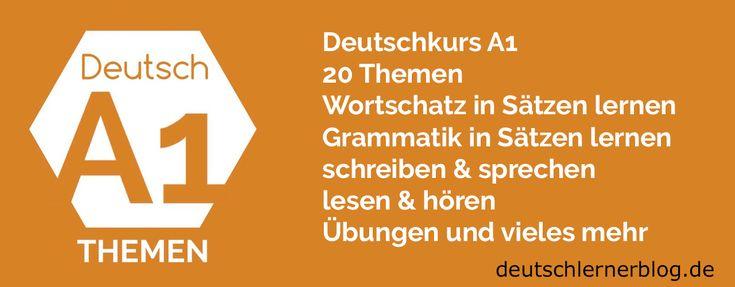 Deutsch lernen A1 - Deutsch A1 - A1 Deutsch - Deutschkurs A1