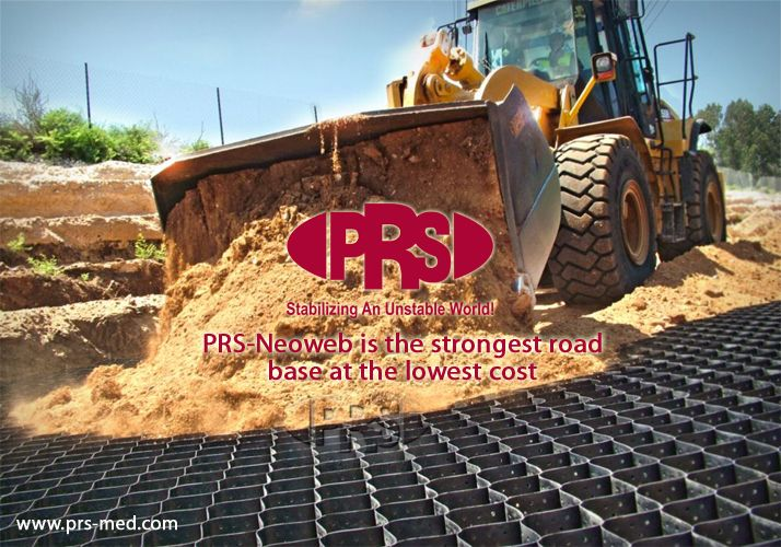 PRS-Neoweb is the Strongest road base at Lowest Cost #greenroads #accessroads #haulroads