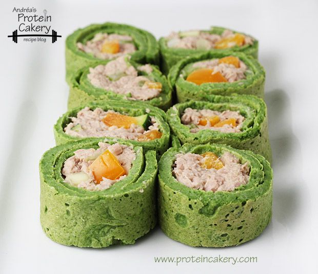 Spinach Protein Wraps - Andréa's Protein Cakery high protein recipes - tuna wrap, gluten free wraps, low carb wraps