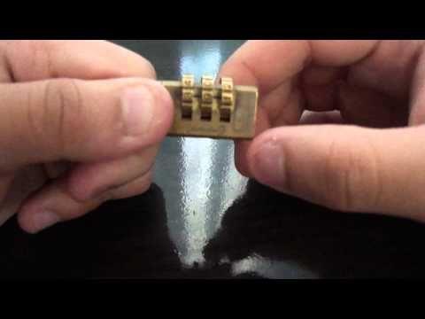 Como abrir un candado de combinacion sin la clave - YouTube