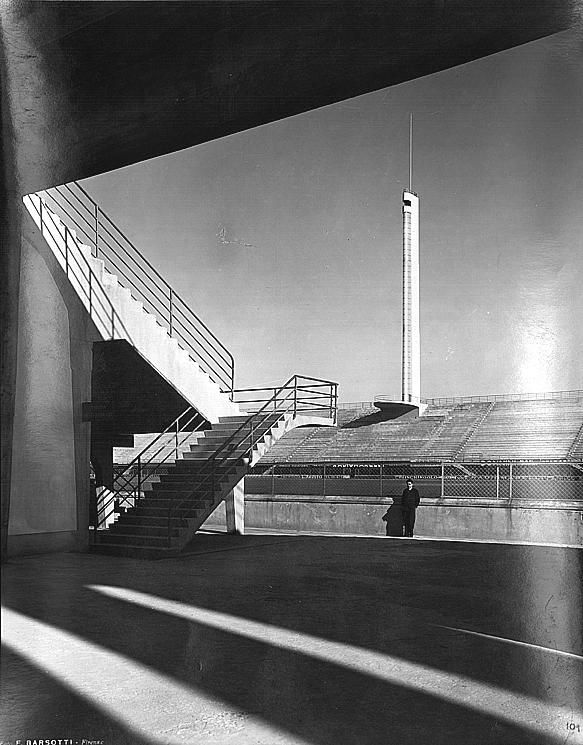 Stadio Comunale Giovanni Berta : La torre di Maratona (The tower of Marathon), Florence (1932) | Architect : Pier Luigi Nervi | Photographer : Ferdinando Barsotti