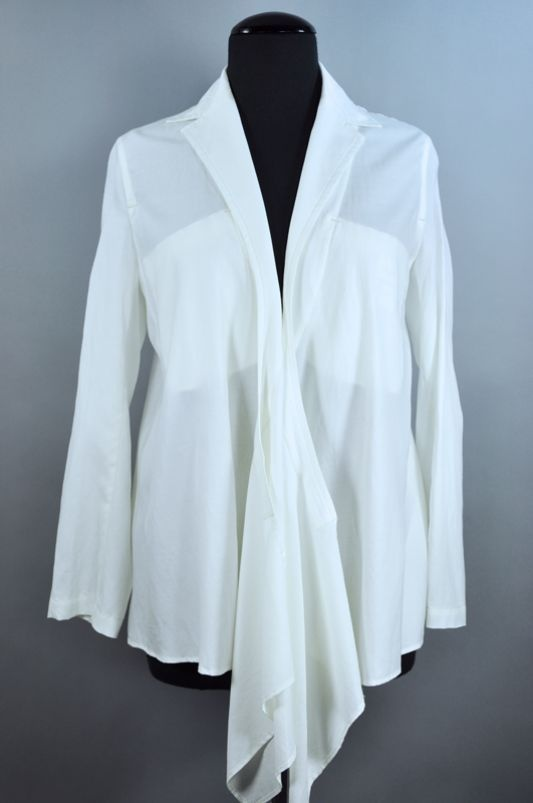 #Yohji Yamamoto  white blouse #2dayslook #white fashion #whitestyle  www.2dayslook.com