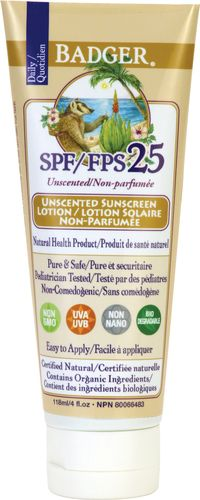 Badger Sunscreen Lotion - SPF 25 $23.49 - from Well.ca