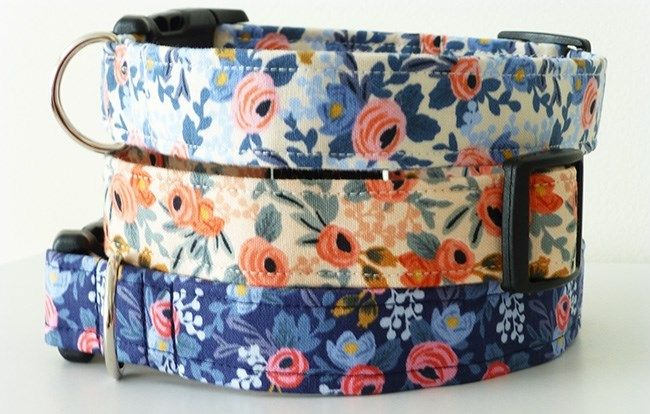 Dog Collars in Rifle Paper Co. Fabric | 3 Options