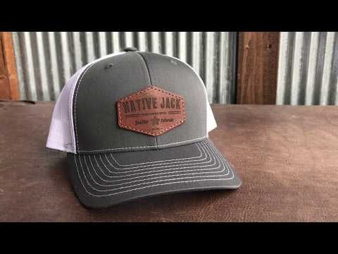 Custom Leather Patch Hat with YOUR LOGO  937747345bfb