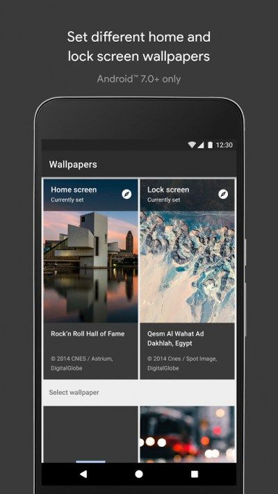 Google launches official wallpaper app runs on all android devices
