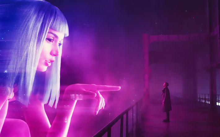 Download wallpapers Blade Runner 2049, 4k, poster, 2017 movie, thriller, Ryan Gosling