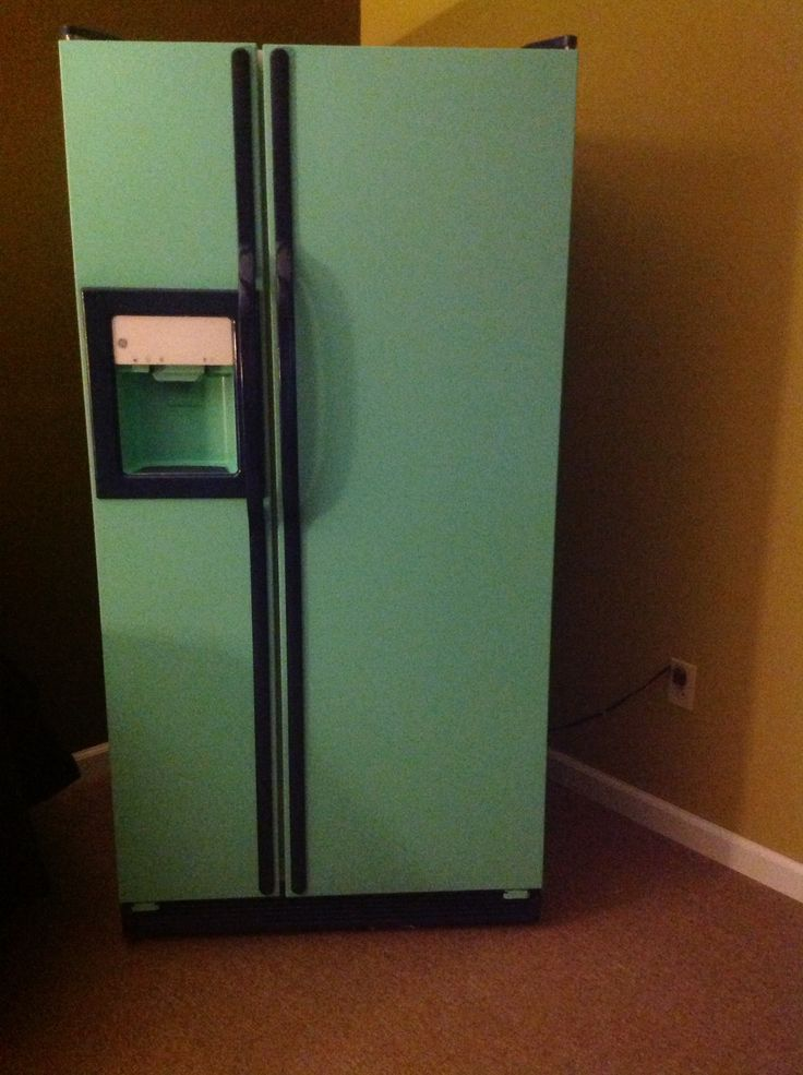 Painted refidgerator