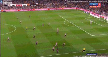 Messi raping Atletico de Bilbao's defence alone