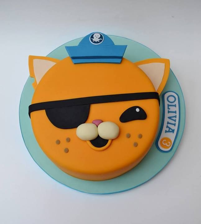 Octonauts cake. Summer loves her kwazzi kitten                                                                               More