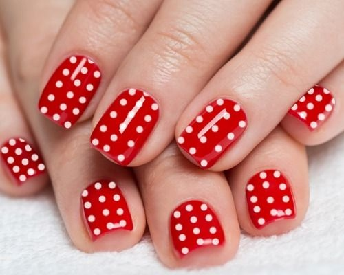 Best 25 red nail art ideas on pinterest easy christmas nail 22 cute polka dot nail art design ideas prinsesfo Images