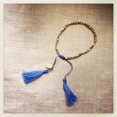 Gloria Bracelet Gold & Blue NEW!