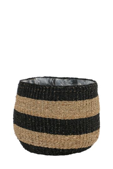 Striped Woven Planter Large