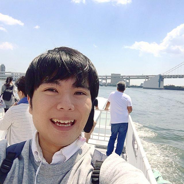 Pinを追加しました!/ずっと乗ってみたかった水上バス!はしゃいでしまった。浜離宮からお台場へ!珍しく自撮りした。 #東京 #東京湾 #tokyo #sea