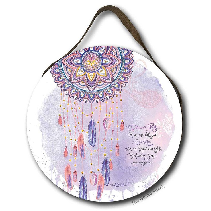 The Gecko Shack - Dream Big Round LED Light Up Wall Hanging Feather Dreamcatcher Design , $79.95 (http://www.geckoshack.com.au/dream-big-round-led-light-up-wall-hanging-feather-dreamcatcher-design/)
