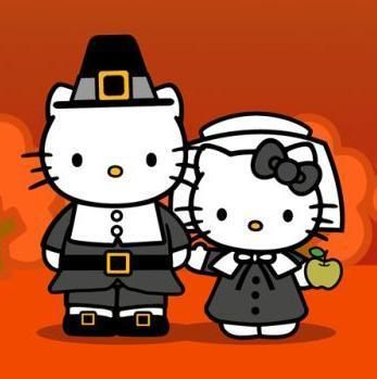 Hello Kitty Pilgrims! Happy Thanksgiving!