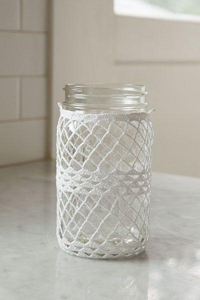 Crocheted Ball Jar Cozies by Kerin Dimeler- Laurence