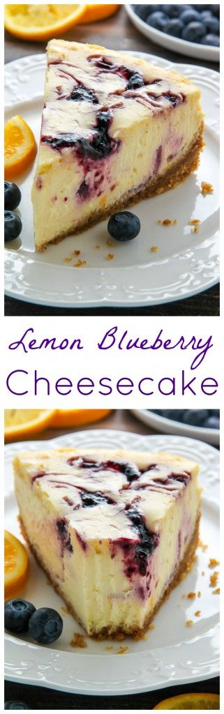 Lemon Blueberry Swirl Cheesecake