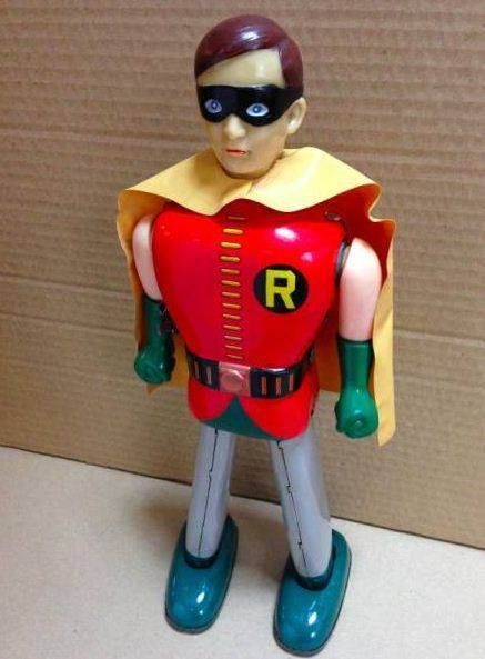 Tada Robin Wind up tin toy from 60s. This one is around $10K