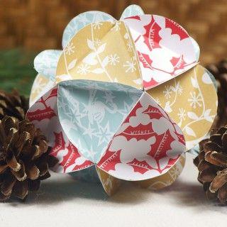 Paper christmas ball