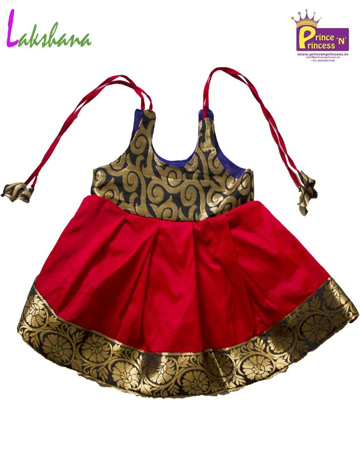 Blacka and red new born Lakshana Frock for more details www.princenprincess.in