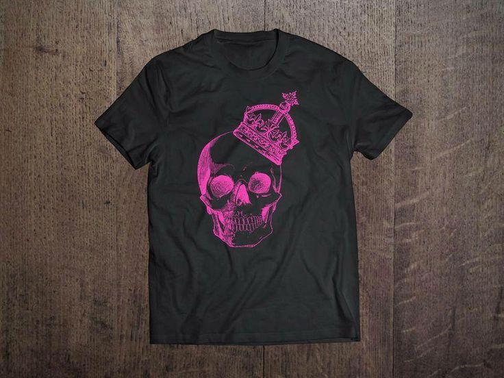 Pink Skull tee  Men's & Women's apparel.