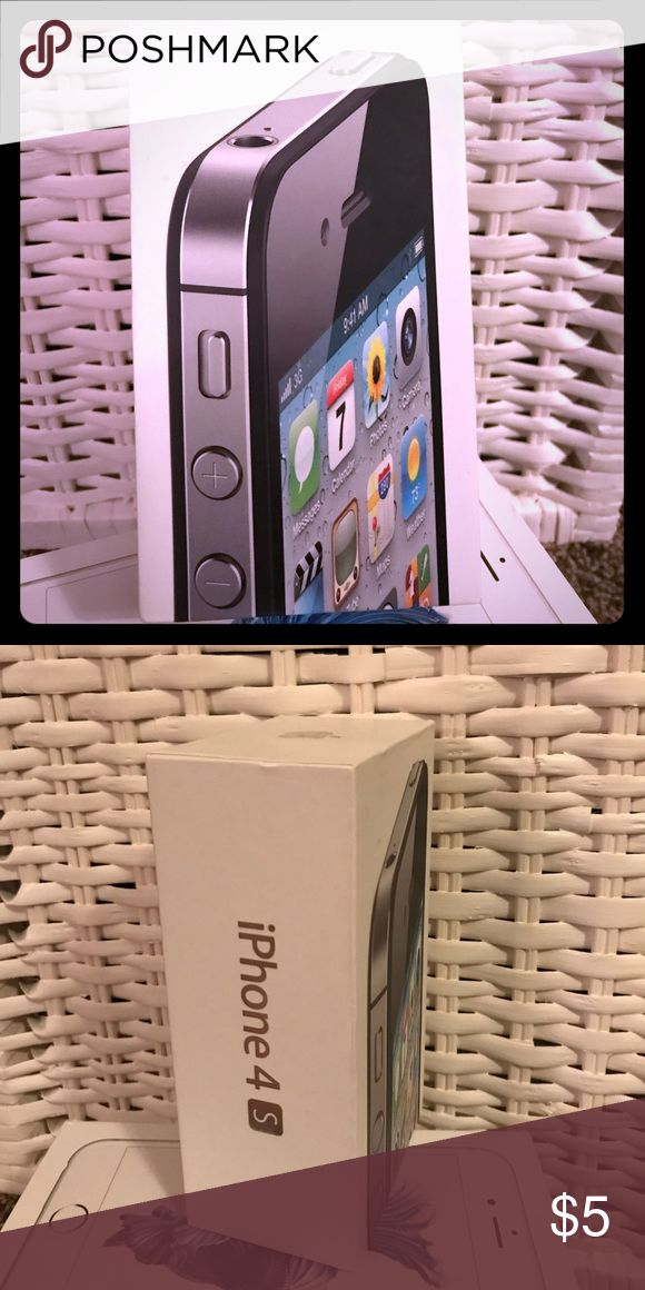Apple iPhone 4s box *BOX ONLY* Apple iPhone 4s Box in near perfect condition. The box notates that this was originally for an iPhone 4s 16GB.  **This is the BOX ONLY with no iPhone included.** Apple Other