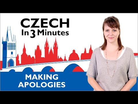 Learn Czech - Making Apologies - Czech in Three Minutes - YouTube