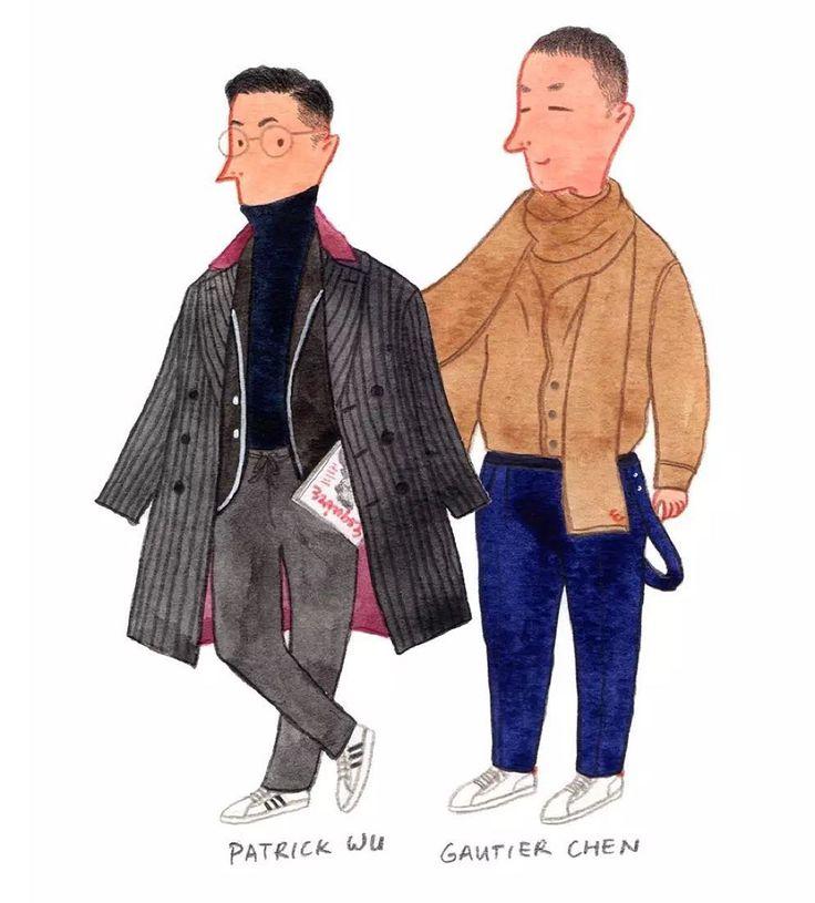 Patrick and Gautier Fashion Editor and Deputy Editor-in-chief of Esquire China @patrickwu526 @gautierchen #mensfashion #fashionillustration #esquiremagazine by Zurvita Zeal Wellness