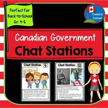 This Canadian Government: Chat Stations resource provides teachers with an engaging lesson plan meant to activate students' understanding of a variety to topics related to government and responsible citizenship..