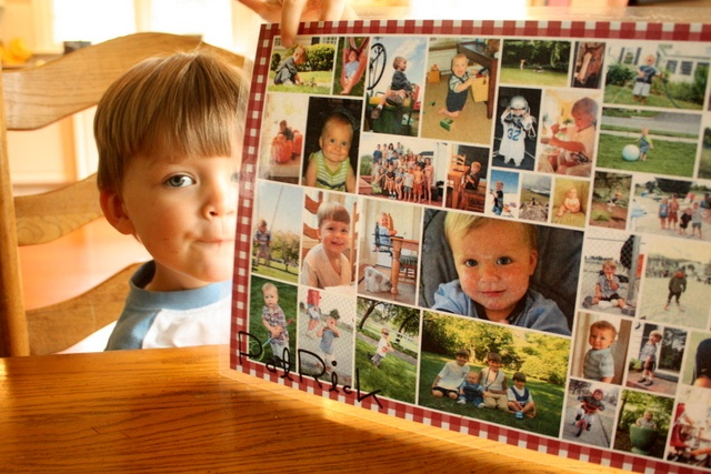 Personalized photo place mats, so making these for Christmas and incorporating the table prayer.