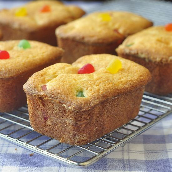 Gumdrop Crinkle Cakes - mini lemon scented pound cakes stuffed with colorful gumdrops. A childhood favorite and popular lunchbox treat here in Newfoundland.