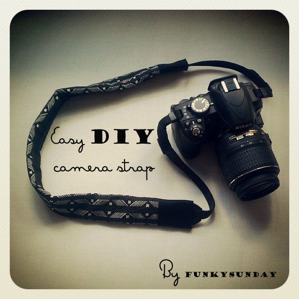 Funky Sunday: Easy DIY camera strap. Appareil photo, Couture, DIY, Free Sewing Pattern, How to, Les tutos FunkySunday, Patron de couture gratuit, SewinG, comment faire soi-même, tutorial