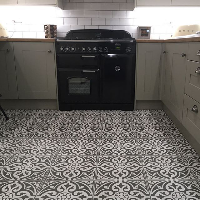Devon Stone Black Feature Floor Tile 33x33cm Flooring Tile Floor Kitchen Dinning