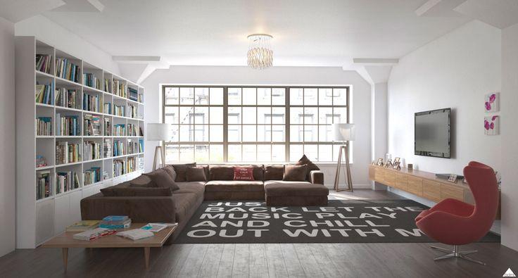 /render /Loft /USA /Interiordesign