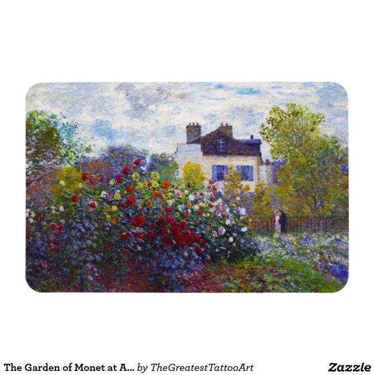 The Garden of Monet at Argenteuil Claude Monet Rectangular Photo Magnet