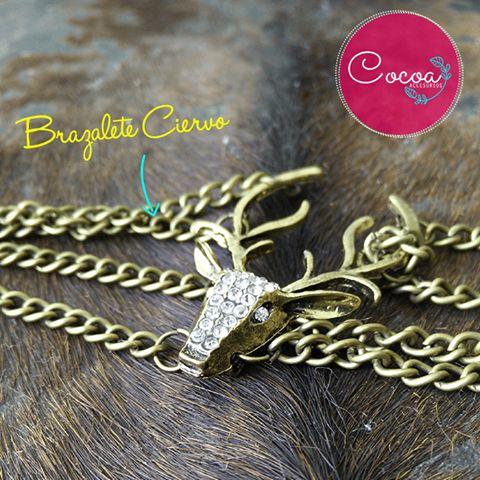 brazalete ciervo $14.000 CO #accesorioscocoa #cocoaccesorios #brazaletes #accesoriosParaMujer
