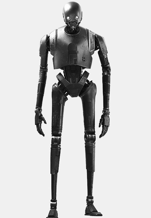K-2SO is a tough-as-nails security droid that is neither fragile, like the prequels' battle droids, nor all that concerned with human-cyborg relations, like C-3PO