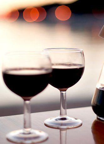 Ein Gläschen Rotwein am Abend ist gesund
