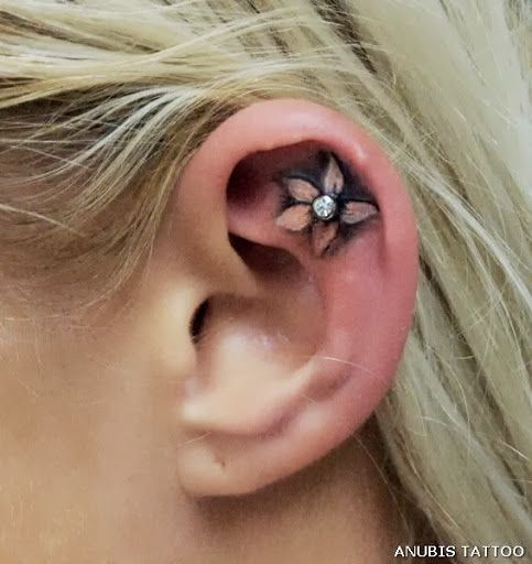 Ear Tattoo Designs For Women | How to Tattoo?
