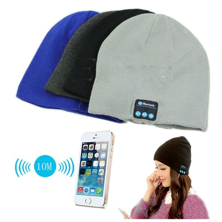 Шапка со встроенными Беспроводными Bluetooth Наушниками.Заказать можно по ссылке http://ali.pub/b1qci